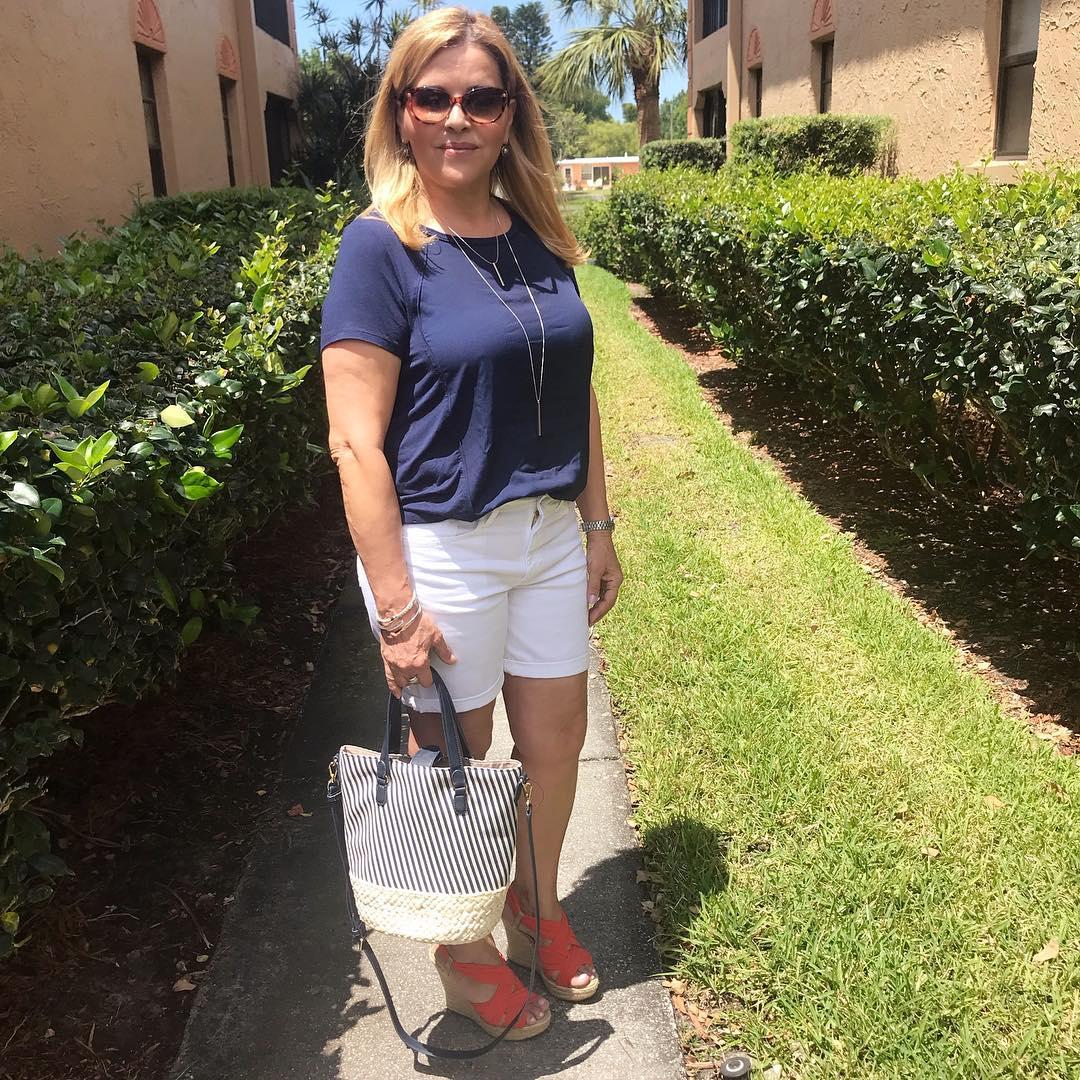 с чем носить шорты летом женщинам после 40-50 лет фото 1