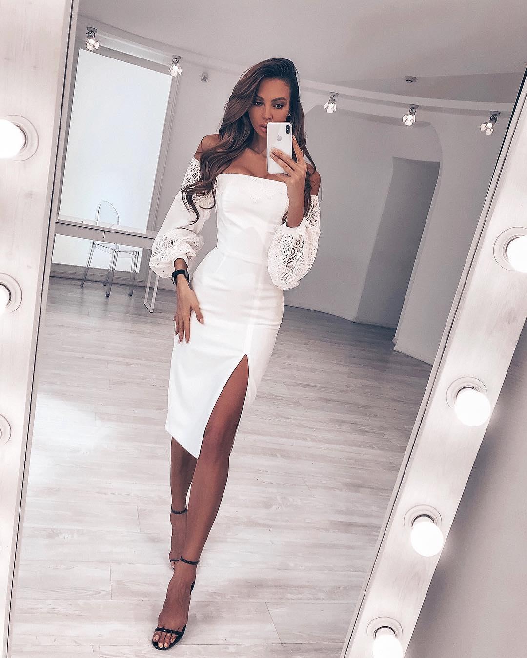 белое платье фото 22