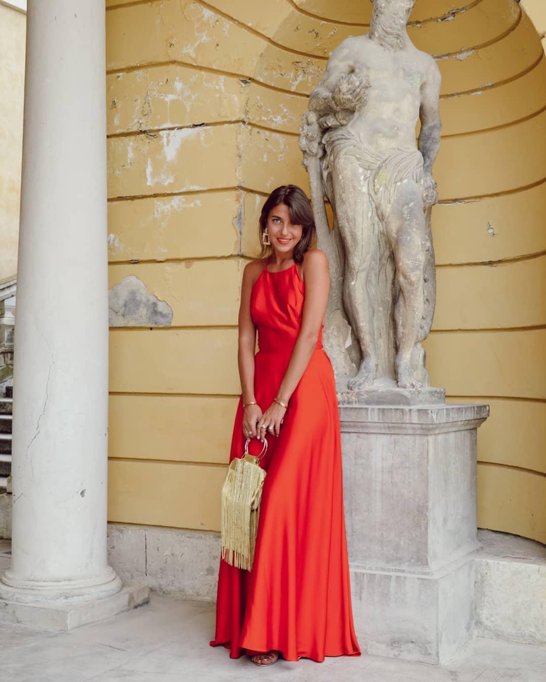 модный летние образы в красном цвете фото 13