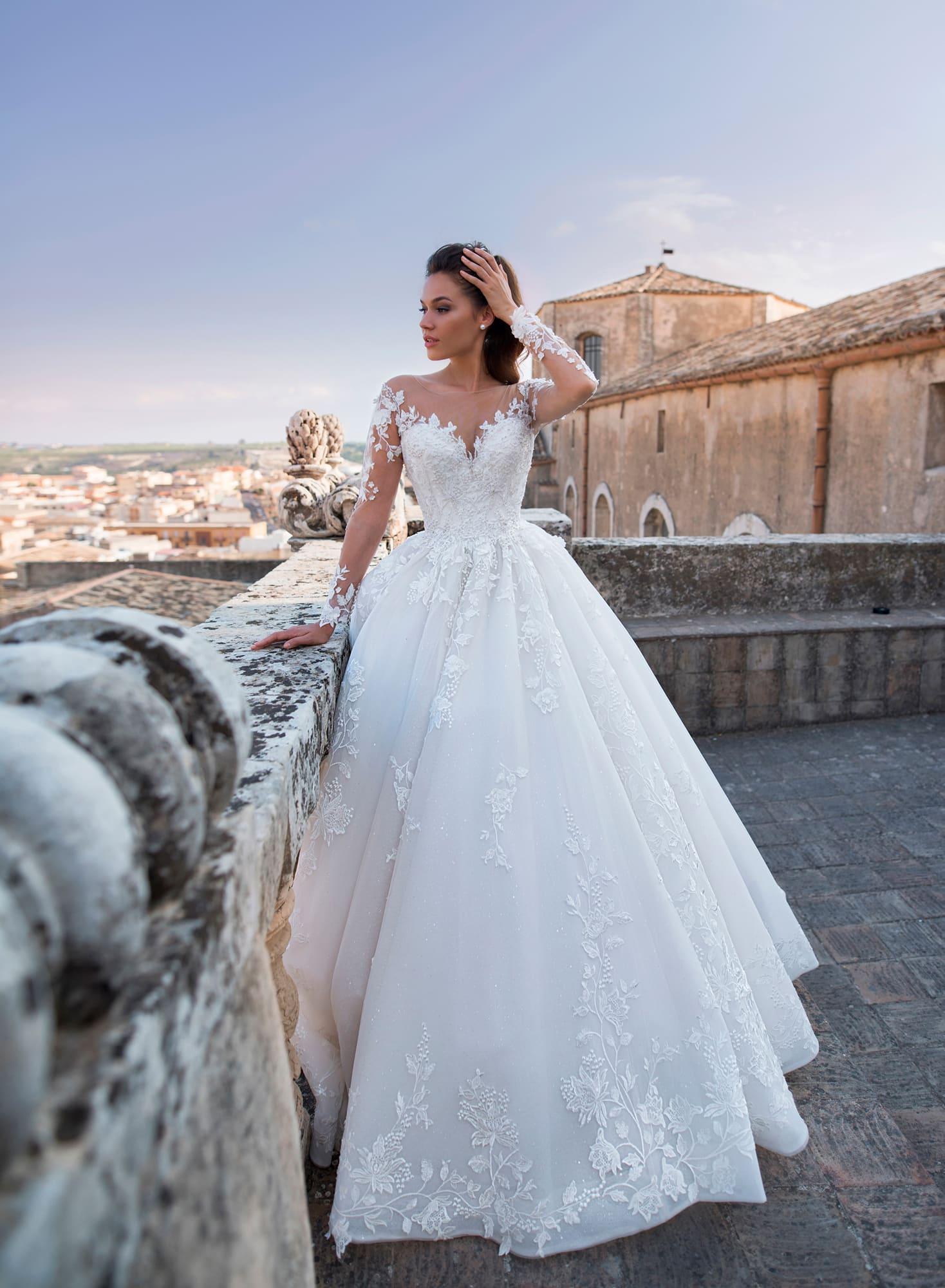 пышные свадебные платья фото 14