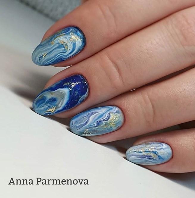 Море на ногтях фото 43