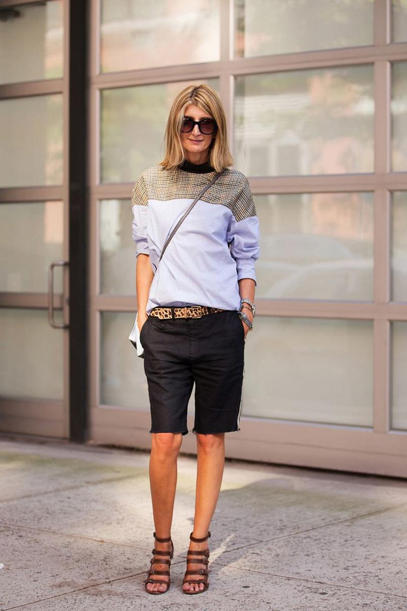 Удлиненные шорты фото 5