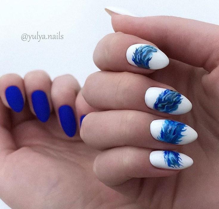 Море на ногтях фото 3