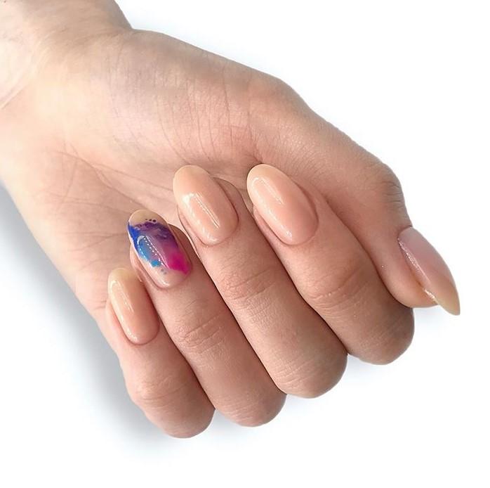 маникюр разноцветная дымка фото 3