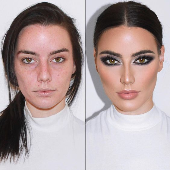 макияж до и после фото 1