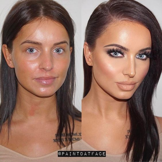 макияж до и после фото 8