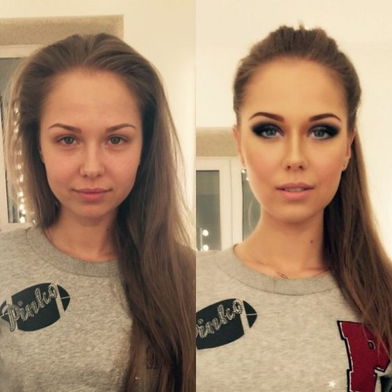 макияж до и после фото 9