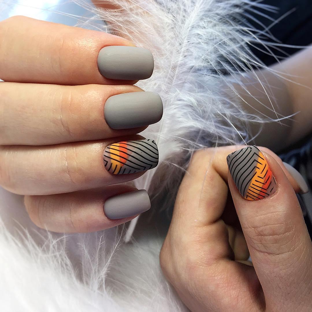 Маникюр на короткие ногти осень фото 17