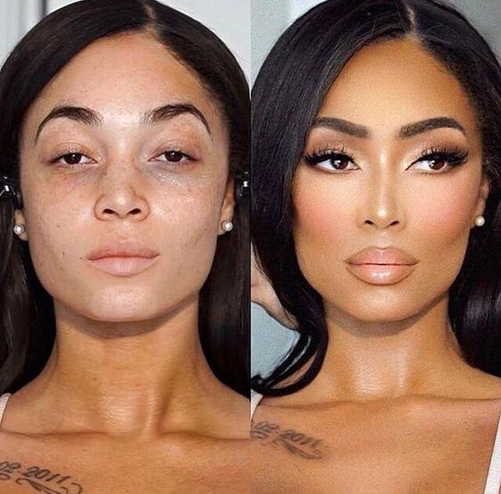 макияж до и после фото 10