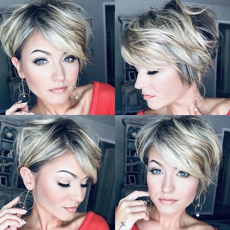 Женские стрижки на короткие волосы с разными челками фото 19