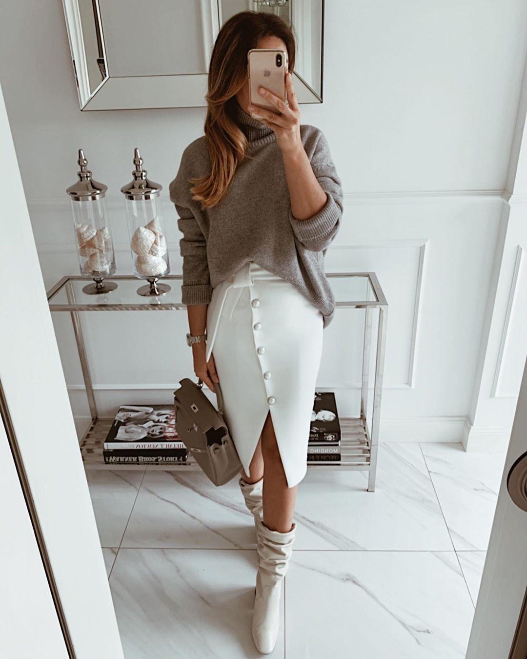 модные образы для деловых женщин осени 2019 фото 12