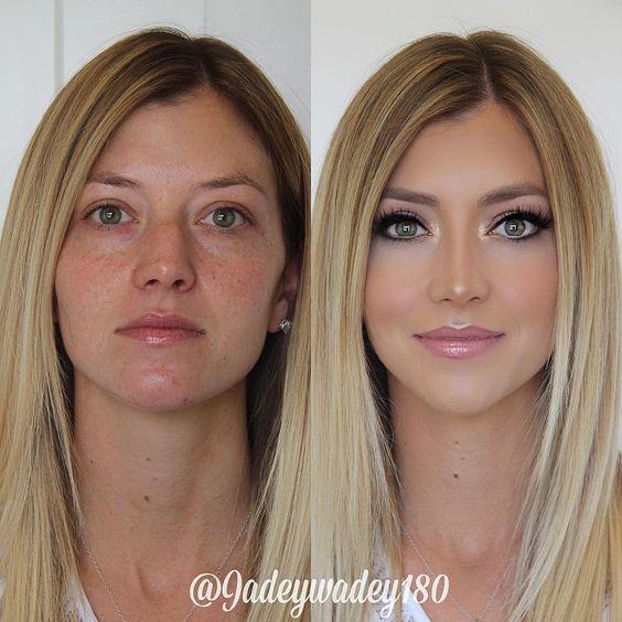 макияж до и после фото 4