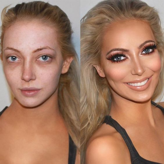 макияж до и после фото 5