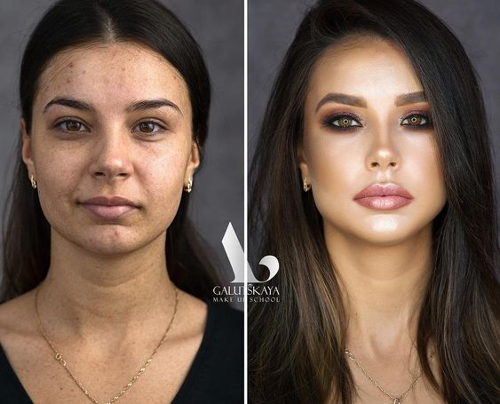 макияж до и после фото 7