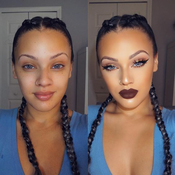 макияж до и после фото 13
