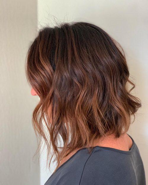 стрижки средней длины для тонких волос фото 9