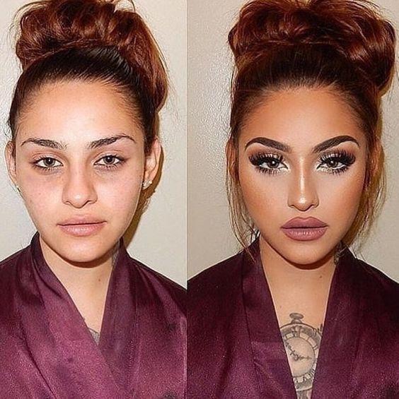 макияж до и после фото 15