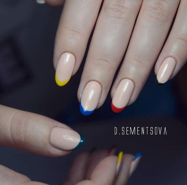 разноцветный френч фото 9