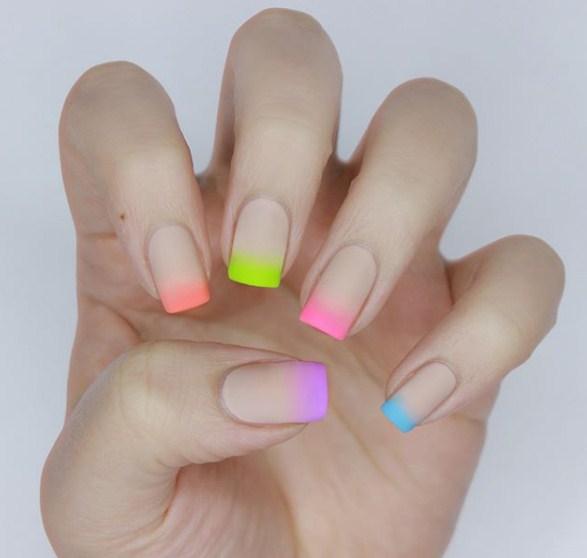 разноцветный френч фото 4