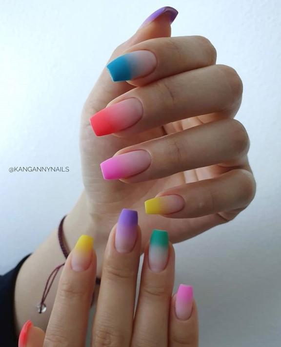 разноцветный френч фото 29