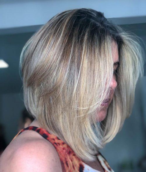 стрижки средней длины для тонких волос фото 10