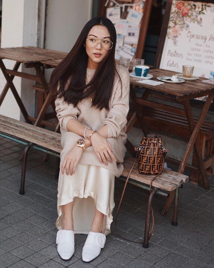 модные образы в бежевом цвете осень 2019 фото 8