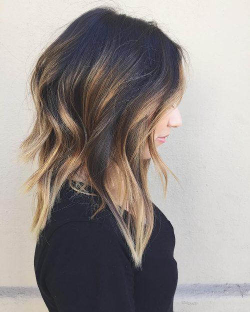 стрижки средней длины для тонких волос фото 11