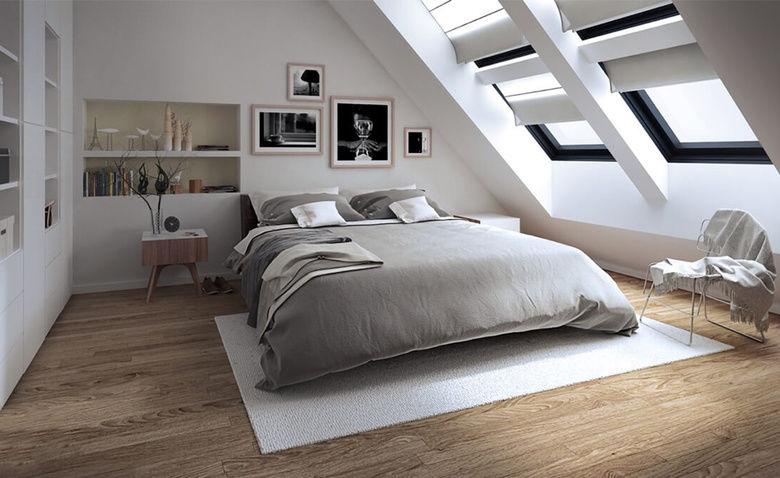Идеи дизайна спальни на мансарде фото 6