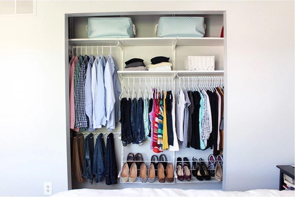 Полезные идеи организации гардероба фото 4