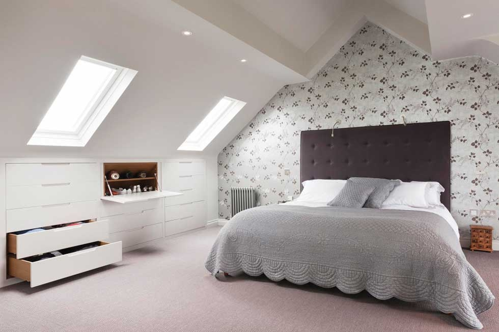 Идеи дизайна спальни на мансарде фото 5