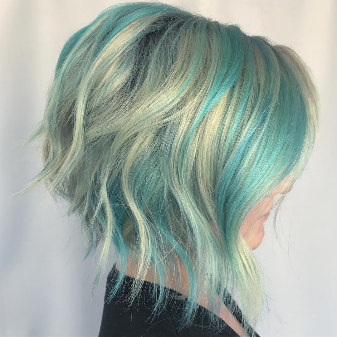 Мелирование на коротких волосах 2019-2020 фото 9