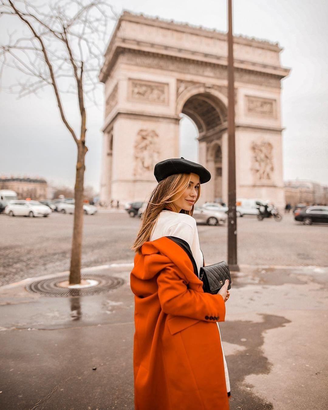 Модные осенние образы в оранжевом цвете фото 2