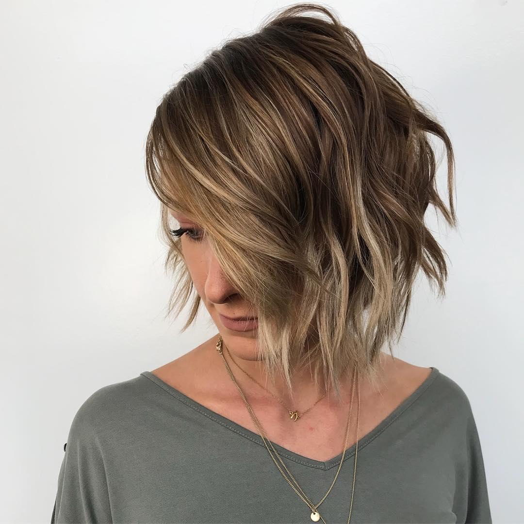Мелирование на коротких волосах 2019-2020 фото 8