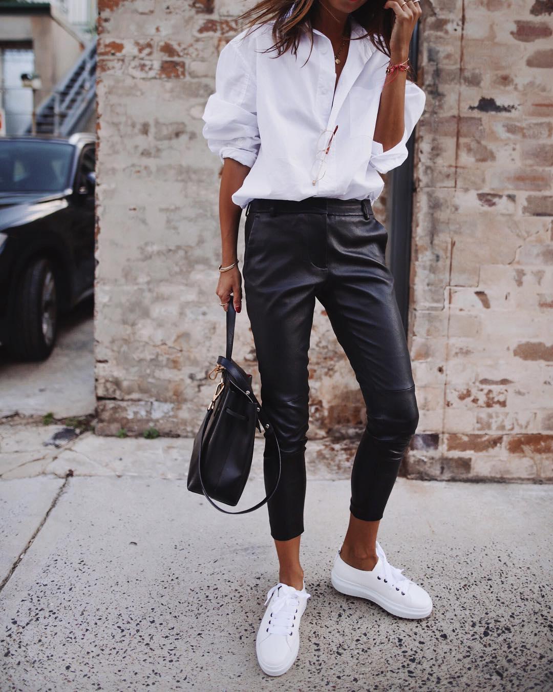 кожаные брюки 2020 фото 6