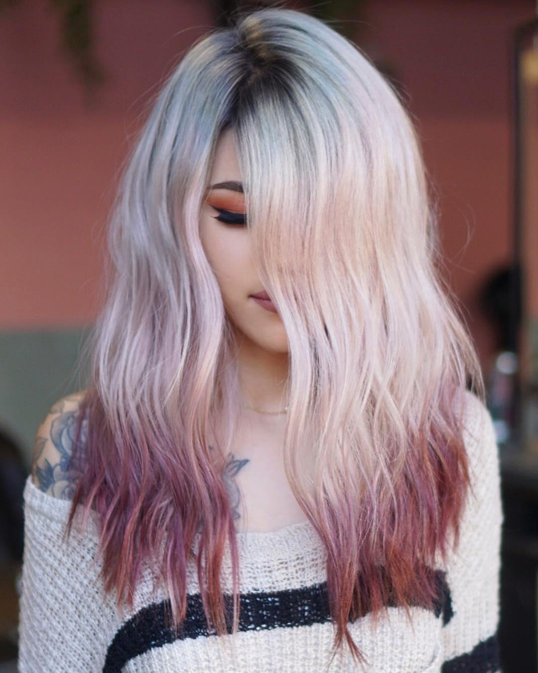 Окрашивание кончиков волос фото 4