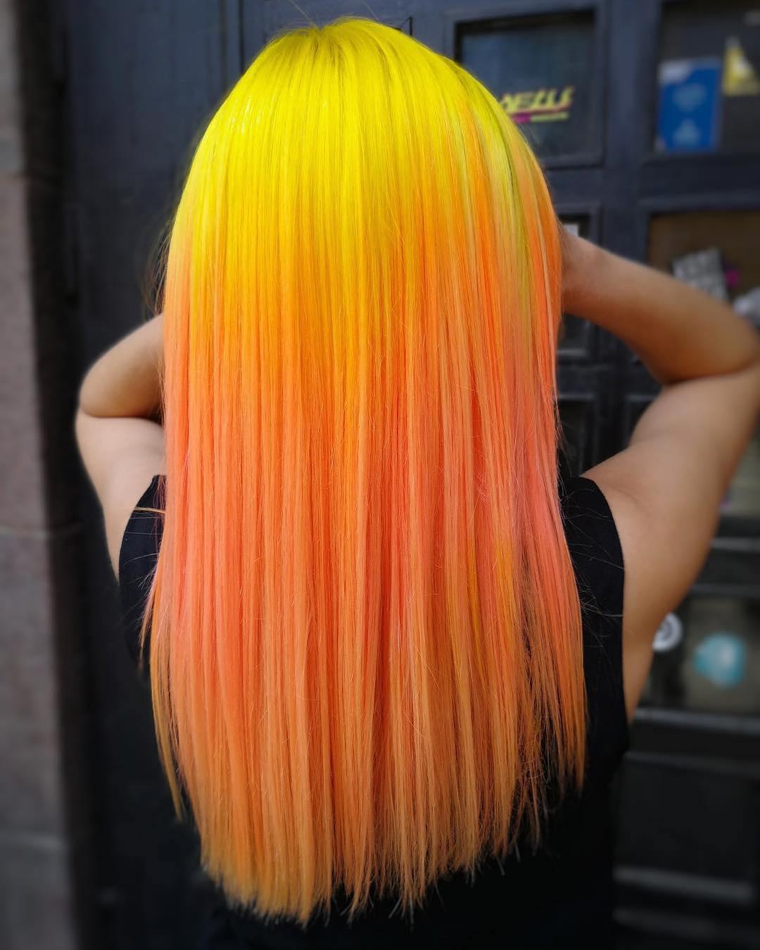 Растяжка цвета на волосах фото 11