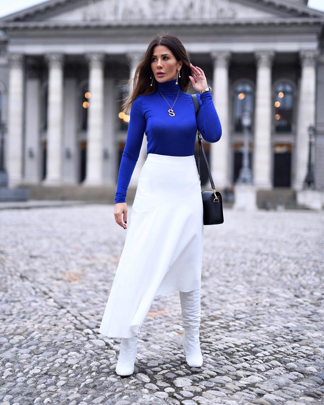 длинные юбки осени 2019 фото 4