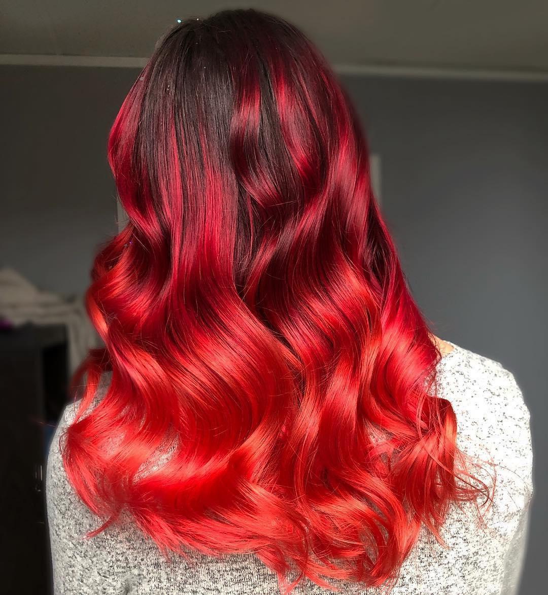 Растяжка цвета на волосах фото 12