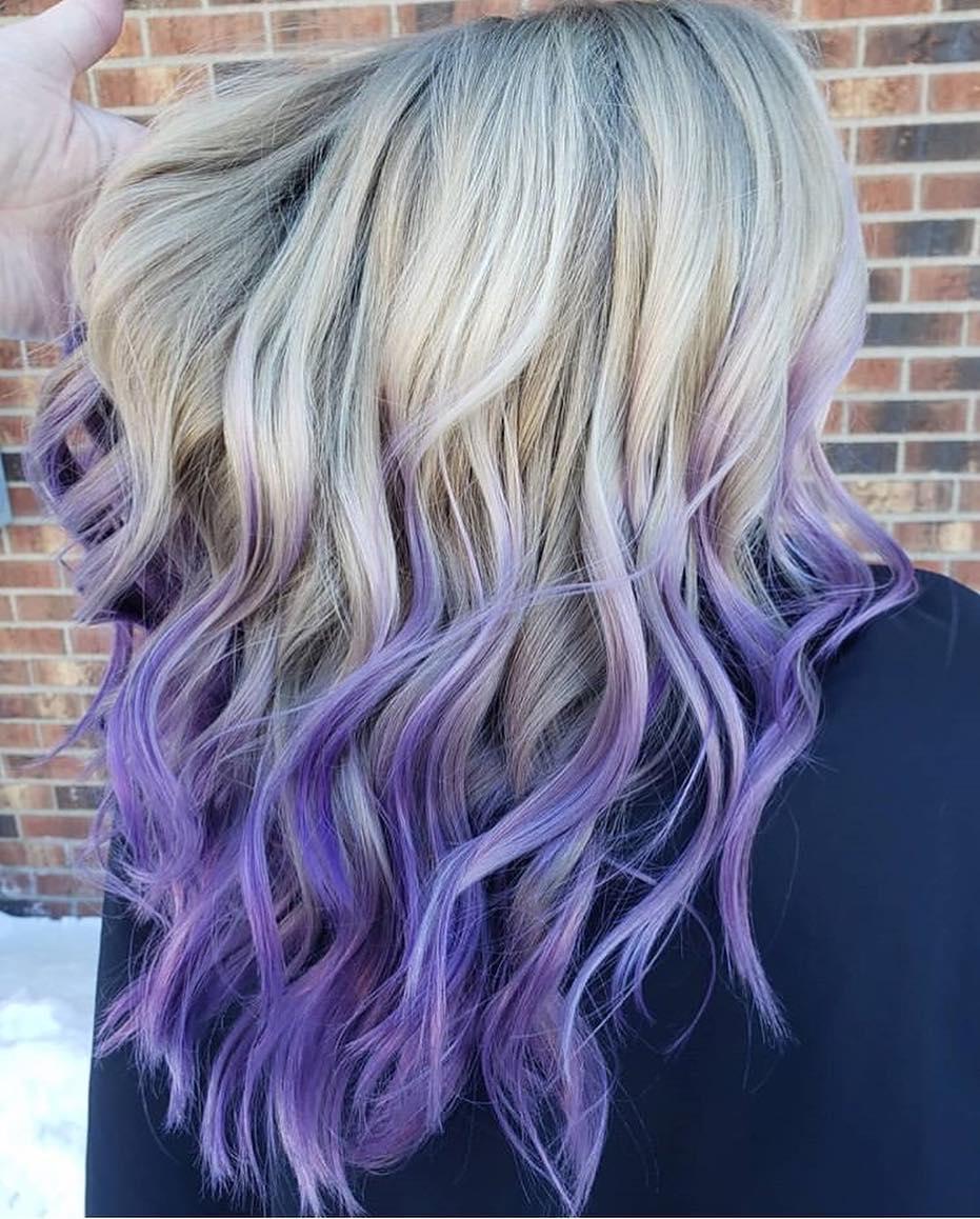 Растяжка цвета на волосах фото 13
