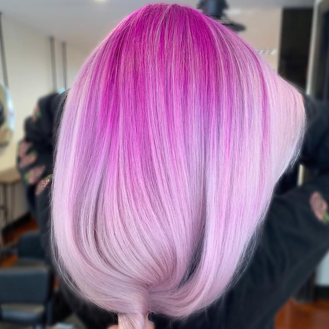 Растяжка цвета на волосах фото 14