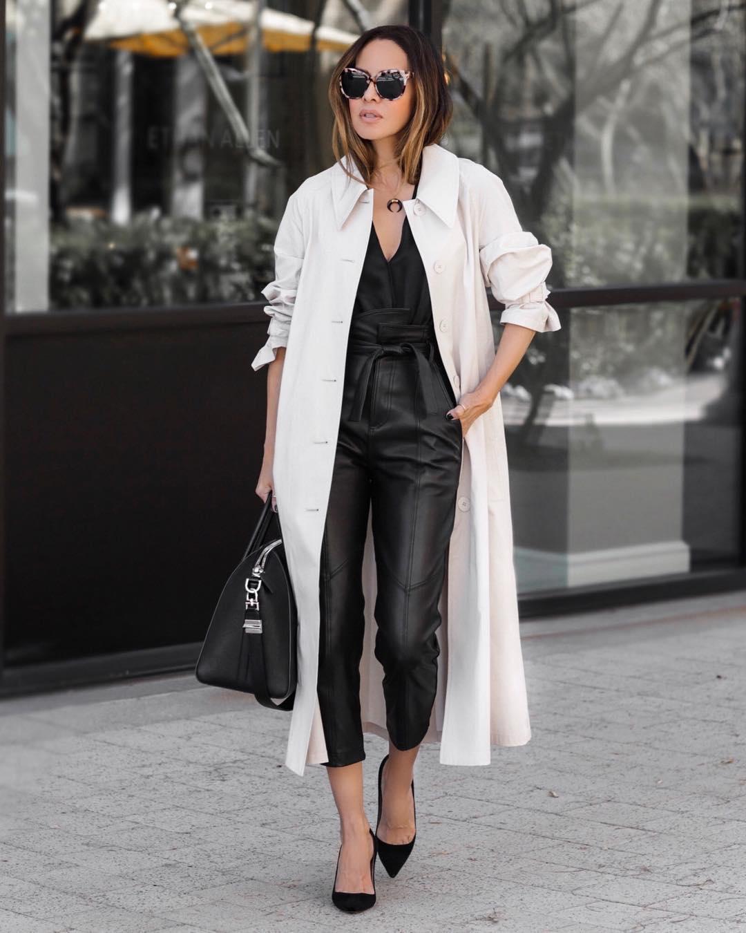 кожаные брюки 2020 фото 21
