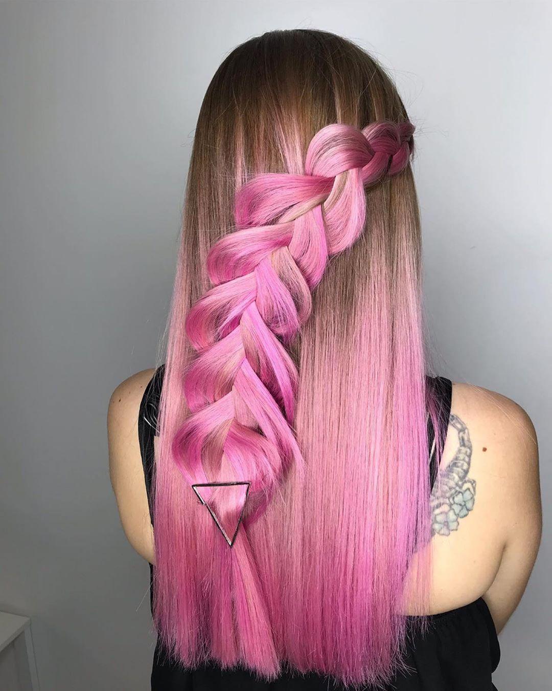 Растяжка цвета на волосах фото 16