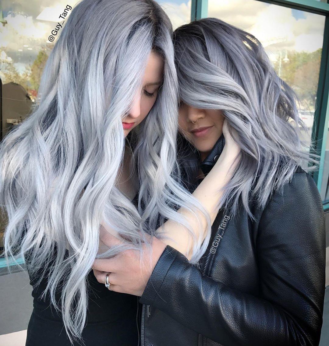 серые волосы 2019-2020 фото 14