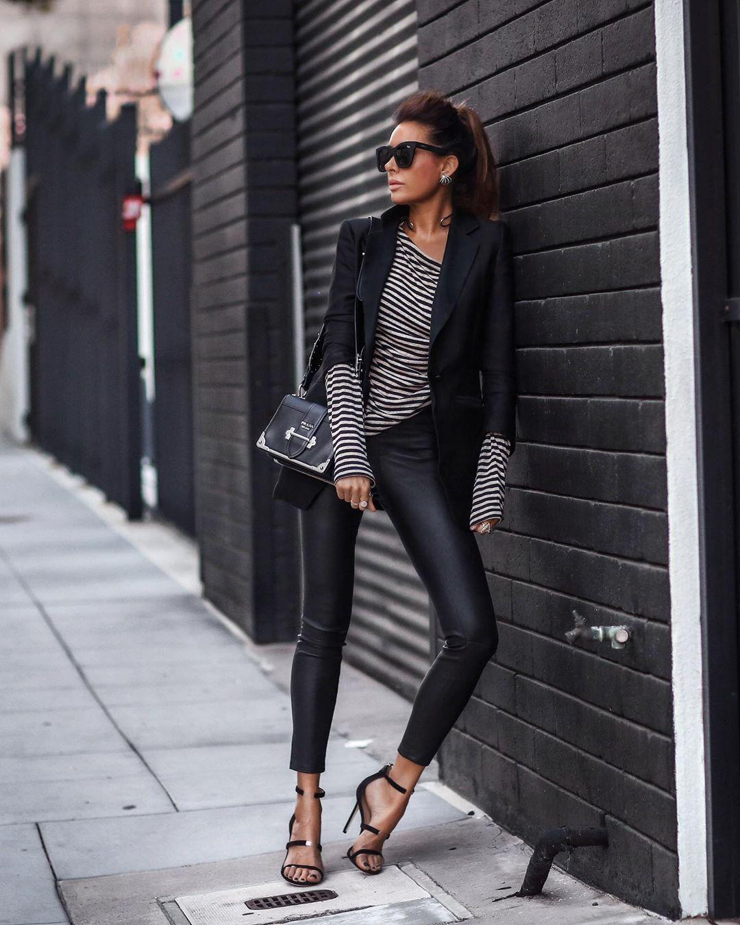 кожаные брюки 2020 фото 14