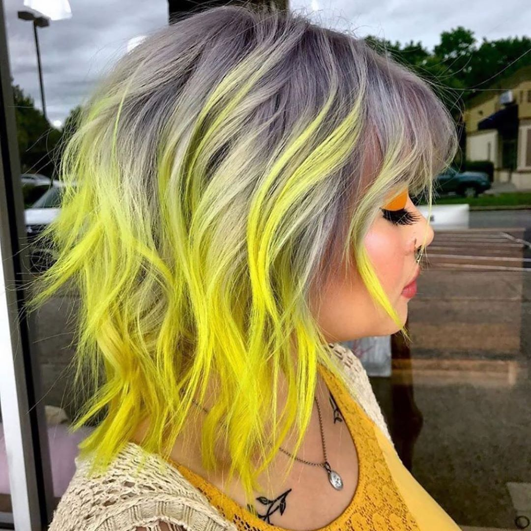 Растяжка цвета на волосах фото 18