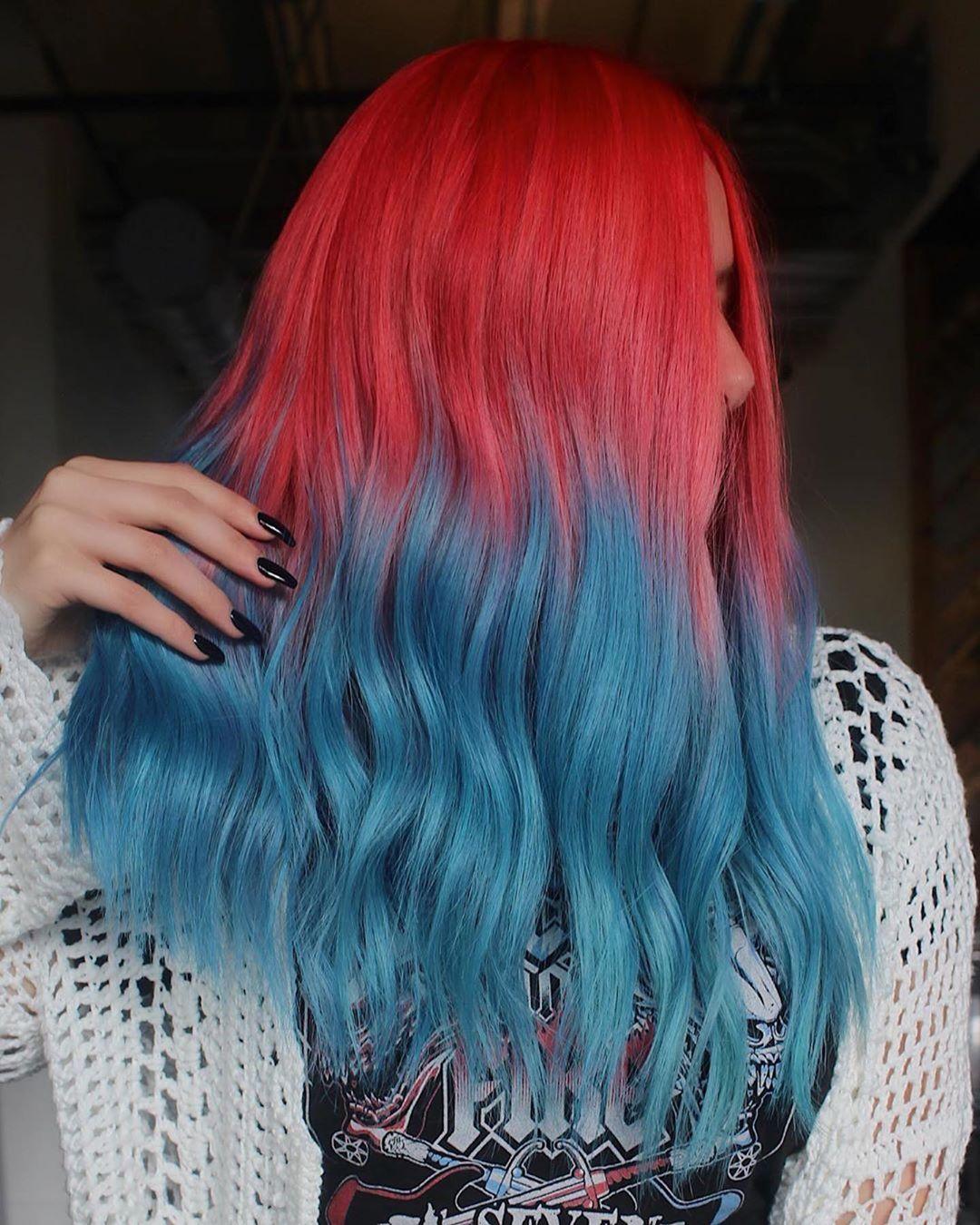 Растяжка цвета на волосах фото 19