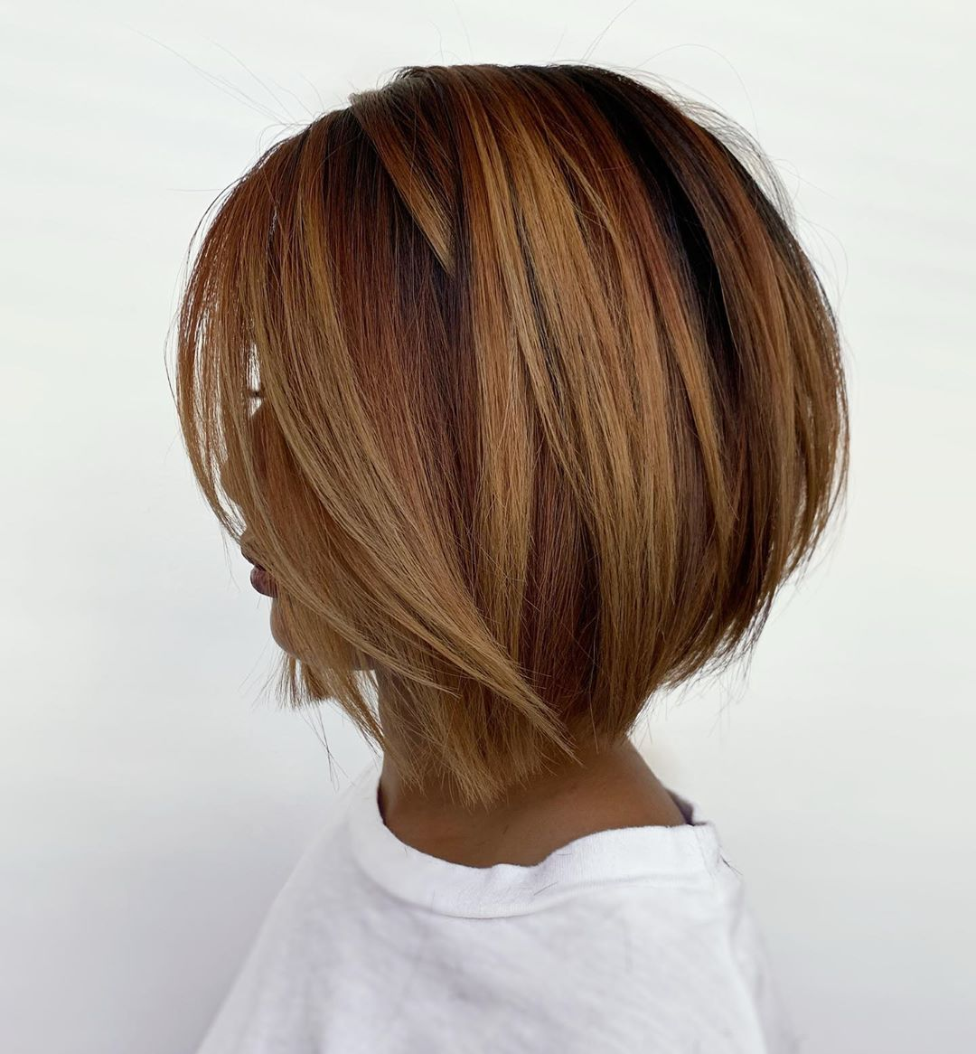 Мелирование на коротких волосах 2019-2020 фото 2