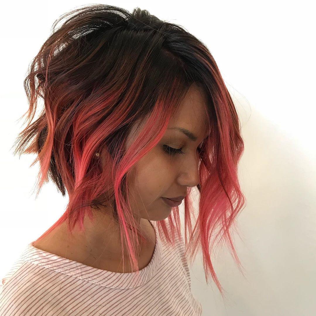 Мелирование на коротких волосах 2019-2020 фото 1