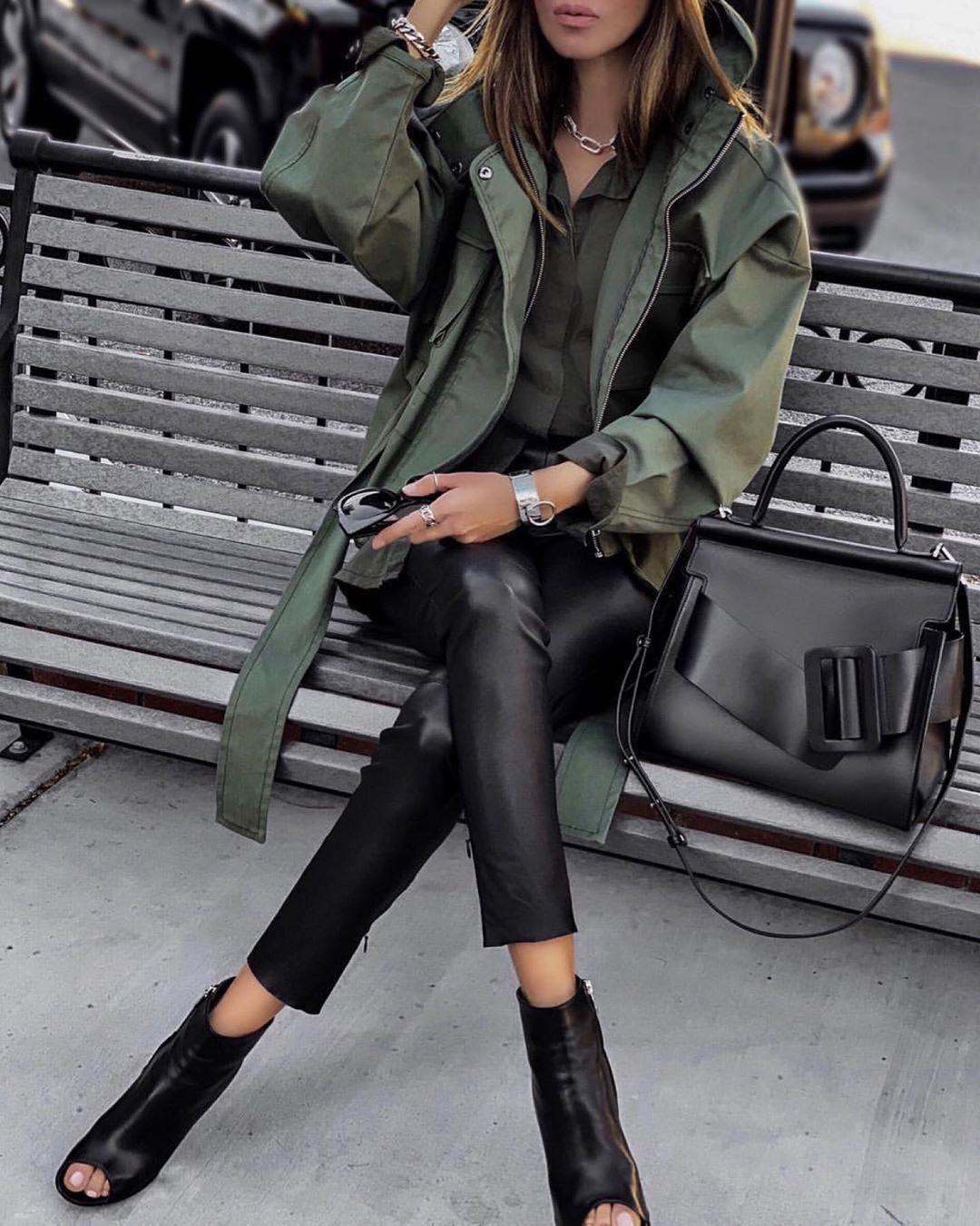 кожаные брюки 2020 фото 22