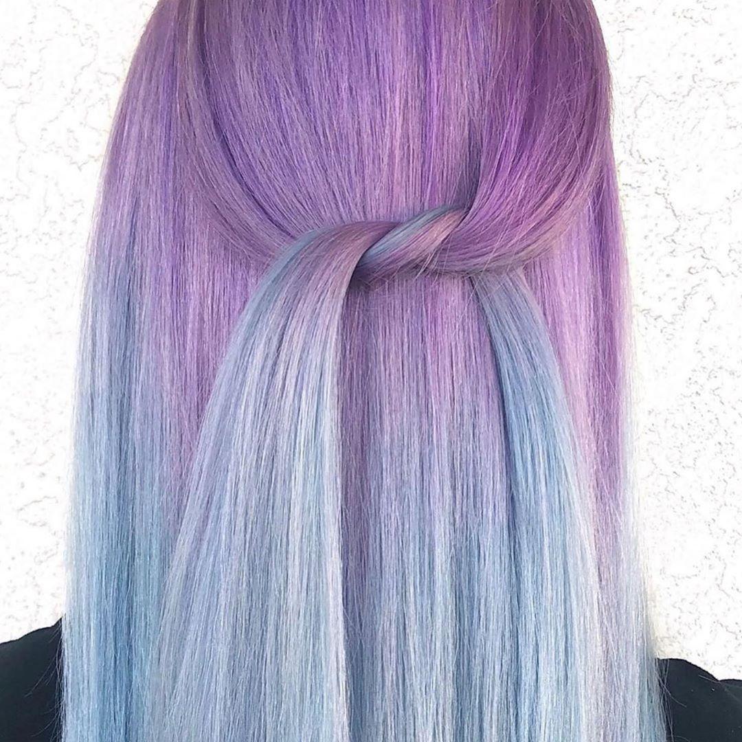 Растяжка цвета на волосах фото 22
